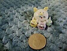 Collectibles Mommy Cat & three Kitties Handmade Miniatures Animals Figurines