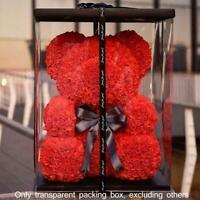 17X17X29 Teddy Rose Bear Artificial Flowers Valentine Wedding Decor Gifts B G1Y0