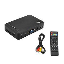 Full 1080P HD Multi Media Player TV BOX 3 Outputs HDMI/VGA/AV USB & SD Card US
