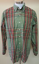 IZOD Mens Multi-Color Striped Plaid Button Down Long Sleeve Shirt Size Large