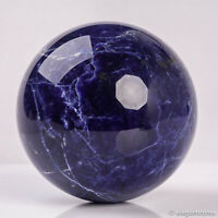 856g 89mm Large Natural Blue Sodalite Quartz Crystal Sphere Healing Ball Chakra