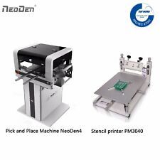 Smd Pick And Place Machine Neoden4 2 Cameras Solder Printer Pm3040 For Prototype
