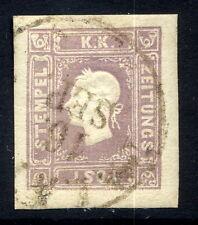 AUSTRIA 1859 1.05 Kr lilac newspaper stamp fine used