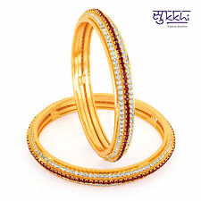Sukkhi Gold Plated Color Stone Bangles - 1141VB1500