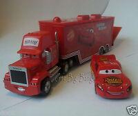 Disney Pixar Cars 1  No.95 Mack Racer's Truck & Lightning McQueen 1:55 Loose New