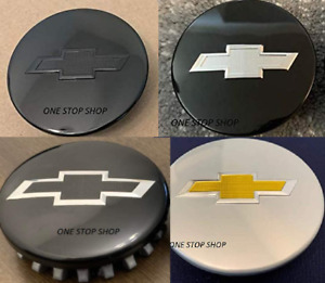 SET Of 4 Camaro Colorado Traverse Black center caps wheel caps 23115617