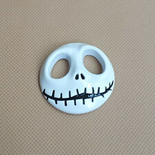 3D Metal White Jack Skull Auto Badge Door Trunk Car Emblem Fender Sticker Decal