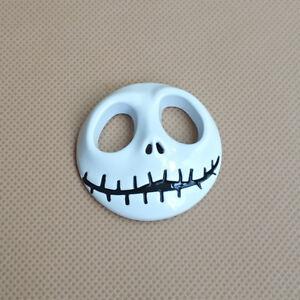 3D Metal White Jack Skull Auto Badge Door Trunk Car Emblem Fender Sticker Decal