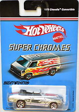 HOT WHEELS 2004 SUPER CHROMES L7416 MADE BY MATTEL 1970 CHEVELLE CONVERTIBLE