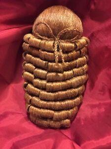 Parrucca sintetica per statue sacre Madonna Bambino 9 cm diametro