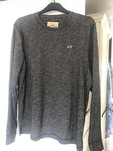 Mens Hollister Jumper / Top Size XL Grey / Black Colour