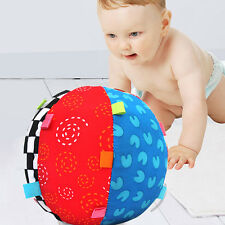 Infant Baby Toddler Soft Cloth Stuffed Ball Rattle Sports Crib Development Toy