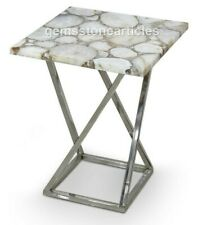 """20""""x20"""" Handmade Natural Stone Agate Top Table Decoration Houseware Furniture"""
