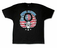 """JASON ALDEAN """"PATRIOTIC SKULL"""" BLACK T-SHIRT NEW OFFICIAL ADULT COUNTRY MUSIC"""