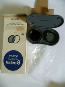 New Old Stock - Genuine SONY VF 37M 37MM Video 8 mm Filter Lens + Carry Case VGC