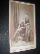 Cdv old photograph soldier and wife by palmer Stonehouse Plymouth c1870s