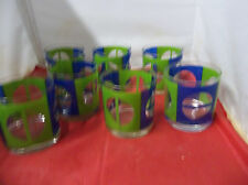h22 Georges Briard Very Cool 60's Mod Drinking Glasses MCM