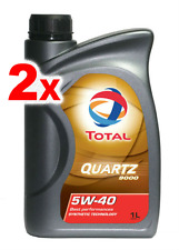2 x Total Quartz Synthetic Engine Motor Oil 9000 Performance 5W40 1L 166243 BMW