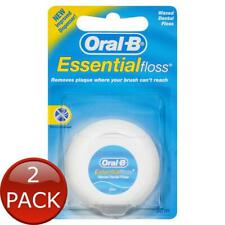 2 x ORAL-B ESSENTIALFLOSS WAXED DENTAL FLOSS 50M