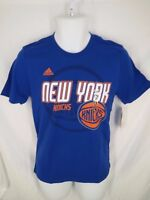 New NBA New York Knicks Youth Size L Large 14/16 Blue Adidas Shirt MSRP $20