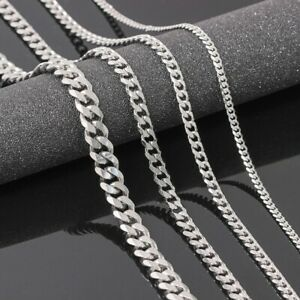 Edelstahl Panzerkette Halskette Kette Damen Herren Silber 4/5/6/9 mm | 50-65 cm