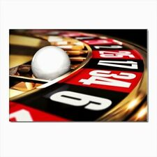 Roulette Gambling Casino Postcards (Pack of 10) - Brand New