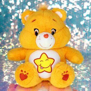 "Care Bears LAUGH-A-LOT BEAR Orange Yellow Star 13"" Plush Stuffed Animal BO020"