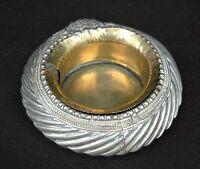 Schale Weißmetall teilvergoldet schwer Indien 19.Jahrhundert/um 1900 Sammlung