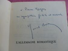 Marcel Brion L'ALLEMAGNE ROMANTIQUE II.Novalis - Hoffmann - Jean-Paul  Envoi !