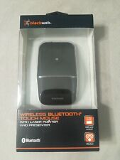 BlackWeb WIRELESS BLUETOOTH TOUCH MOUSE with Laser Presenter 75 ft Range NEW
