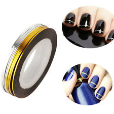 10 Rolls Nail Art Tape Line Strips False Nails Decoration Stickers Gold+Silver
