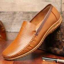 Men's Genuine Leather Driving Casual Flats Boat Shoes Moccasin Slip On Loafers