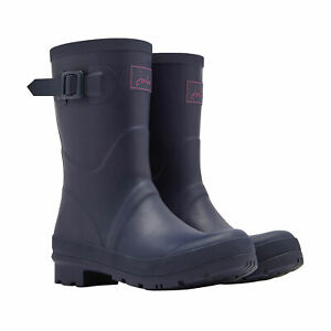 Joules Kelly Mid Height Womens Boots Wellington - Navy All Sizes