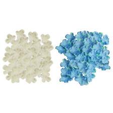 1000x Artificial Silk Hydrangea Flower Petals DIY Wedding Flowers White+Blue