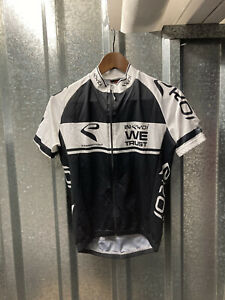 Ekoi Competition 5 Black White Full Zip cycling Top Jersey Size Small