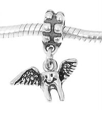 STERLING SILVER TOOTH FAIRY - TOOTH WITH WINGS EUROPEAN STYLE DANGLE BEAD