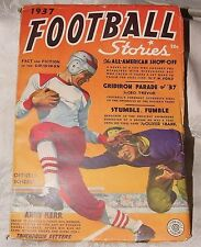 FIRST ISSUE 1937 FOOTBALL STORIES Volume 1 Number 1 Fiction House Magazine PULP