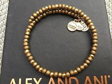 NEW ALEX and ANI VINTAGE 66 SAND SANTORINI Beaded GOLD Wrap BRACELET ��
