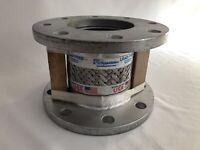"4 inch Flex Hose Steel braided metal Pump connector flexible 6"" 150# ASTM A36"