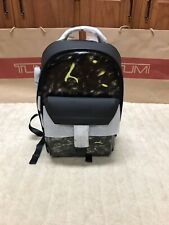 New Tumi Ashton Morrison Backpack Black Leather w/Chartreuse Retails -  $1200