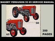 Massey Ferguson 50 & 65 Workshop Service Manuals - 350pgs for Mf 50 Mf65 Repair