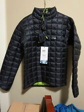 Mens New Rab Continuum Pull-on Jacket Size XL Color Ebony/Chartreuse