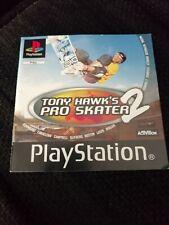 TONY HAWKS PRO SKATER 2 Black Label Manual / Booklet PAL Sony PlayStation 1 PS1