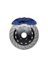 "JPM RS Big Brake 6Pot Caliper Anodized Blue 14"" Drill Disc for E90 E92 M3"