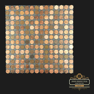 """Tile Sheets of US Copper Pennies - Penny Tiles (12""""x12"""") - FREE SHIPPING!"""