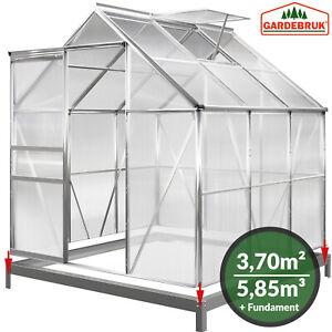Gewächshaus 3,7m² inkl. Fundament Treibhaus Tomatenhaus Gardebruk 5,85m³