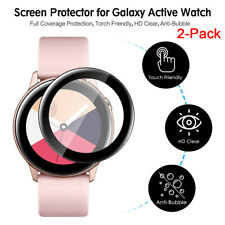 2 Pack For Samsung Galaxy Watch Active Full-Corverage Screen Protector Film