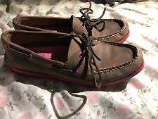 Sperry Top-Sider Womens Brown Pink Boat Shoe Size 9M