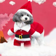 Christmas Pet Dog Cat Costumes Puppy Clothes Santa Claus Costume Suit Cosplay