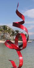 New listing Red Modern Abstract Metal Art Sculpture - Indoor Outdoor Home & Garden Decor